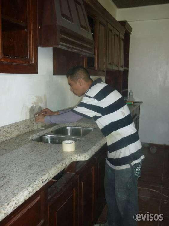 Gabinetes de madera cocinas de granito en el salvador by arte maya en