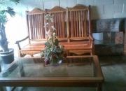 juego de sala madera de cedro