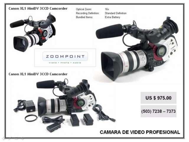 Vendo camara de video profesion marca canon xl