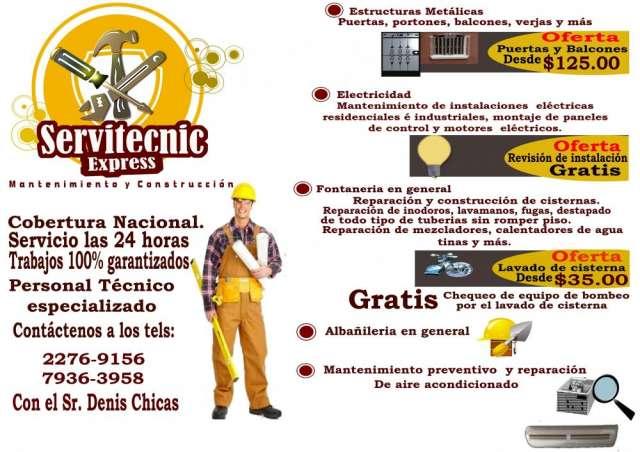 Servitecnic express /mantenimiento y construccion