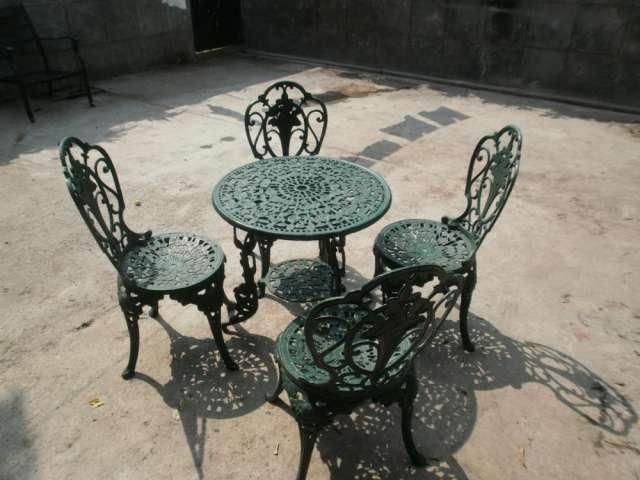 Whaleycorn Negro Estilo Vintage Juego de jardín de Hierro Fundido de ...