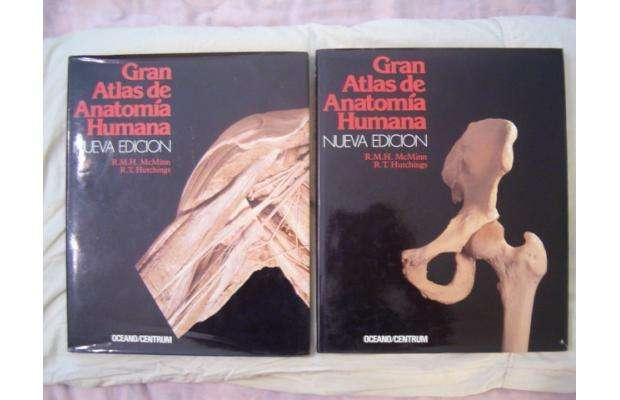 Libros de medicina como nuevos:gran atlas de anotomia humana y el manual merck octava edicion