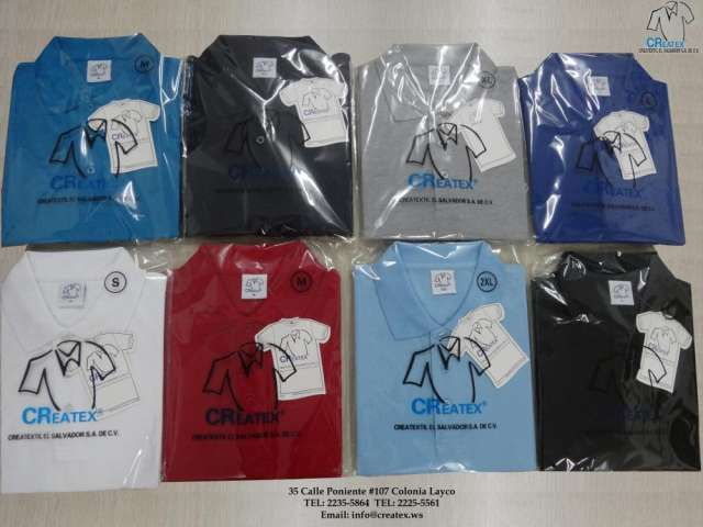 Confección de camisas tipo polo (creatextil el salvador)