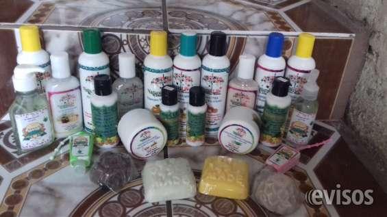 Jabones, aceites y shampoos 100% naturales