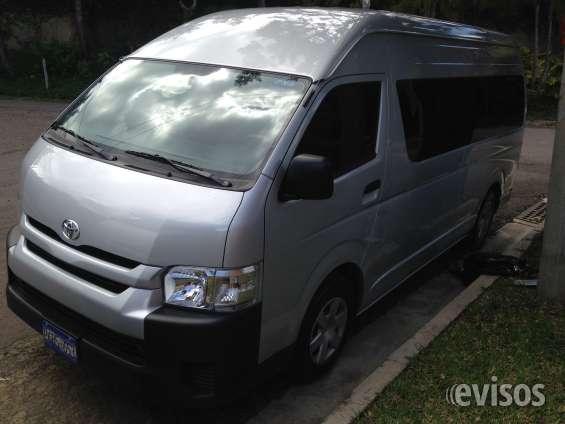 Microbuses renta con o sin motorista