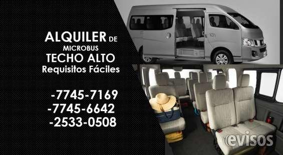 Renta de sedanes , microbuses y pickups