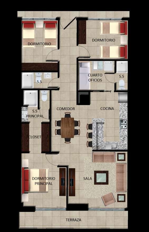 Apartamentos en condominio cielos de la escalón