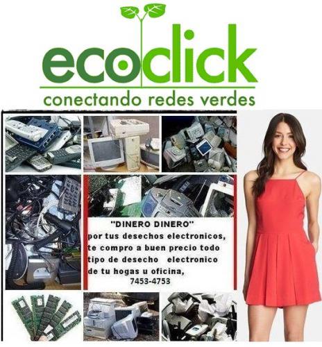 Compramos desecho electrónico para reciclaje ( apoyamos al movimiento ecoclick)