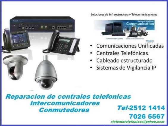 Reparación de telefónicas centrales digitales tel 25121 414