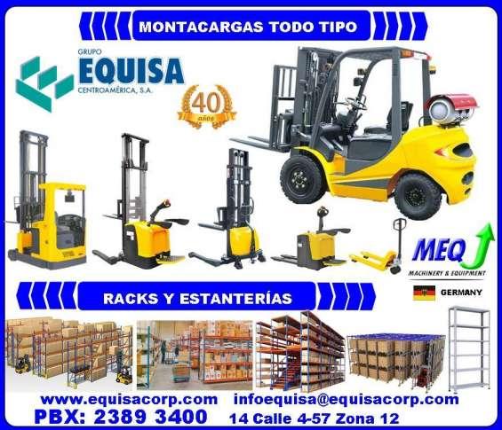 Montacargas y pallets truck !!!