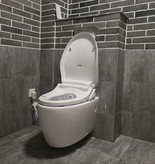 Wall-hang sitting wc pan