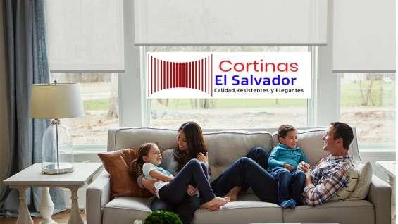 Cortinas el salvador residencial y oficina elegantes modernas y resistentes