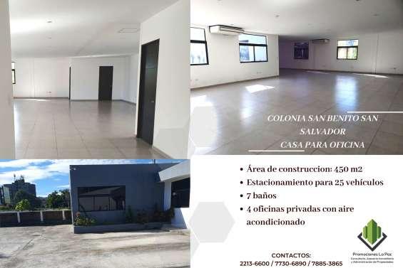 Casa para oficina en alquiler en colonia san benito